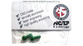 NC-17 tornillos de portabidones M5x12 (2 uds.) verde