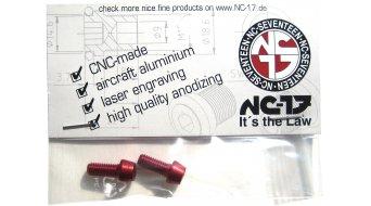 NC-17 tornillos de portabidones M5x12 (2 uds.) rojo