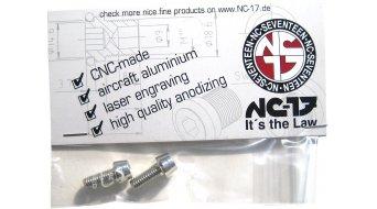 NC-17 Flaschenhalterschrauben M5x12 (2 Stück) silber