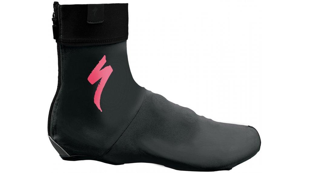 Specialized S-Logo 骑行鞋套 型号 M black/neon 粉色 款型 2018