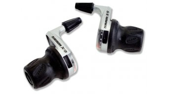 SRAM X9 puño giratorio maneta de cambio color plata