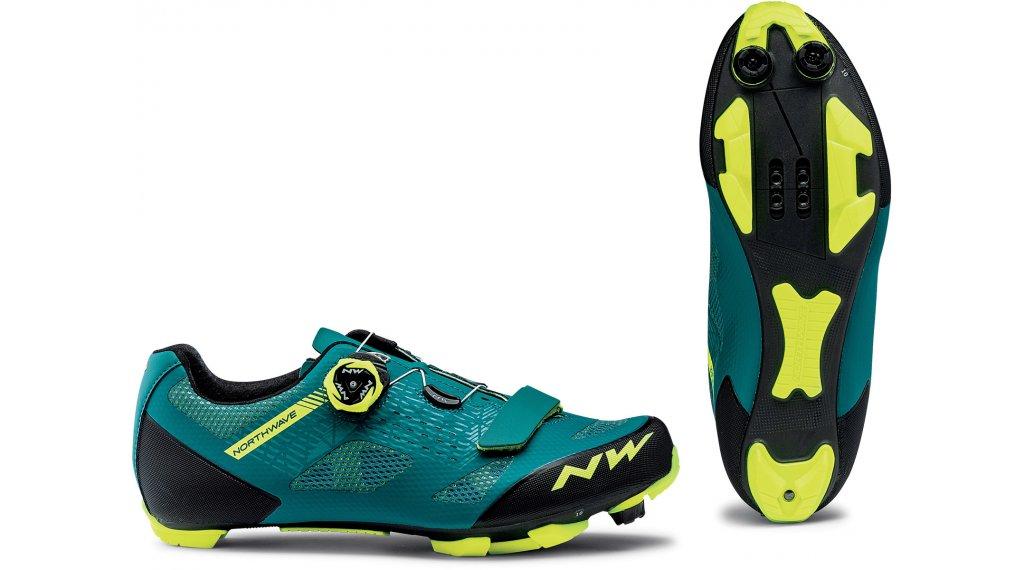 Northwave Razer MTB-Schuhe Gr. 40.5 green/yellow fluo