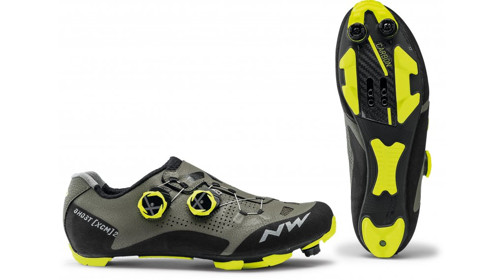 Northwave Ghost XCM 2 MTB-Schuhe Herren Gr. 42.5 forest/yellow fluo