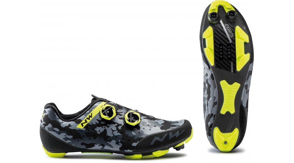 Northwave Rebel 2 MTB-zapatillas Caballeros tamaño 37.0 camo negro/amarillo fluo