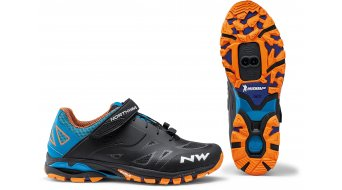 Northwave Spider 2 scarpe da MTB da uomo . nero/blu/arancione