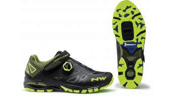 Northwave Spider Plus 2 MTB- shoes men black/yellow fluo
