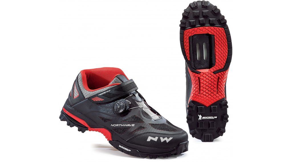 Northwave Enduro Mid All Mountain MTB-Schuhe Gr. 47 black red 67d4f40471