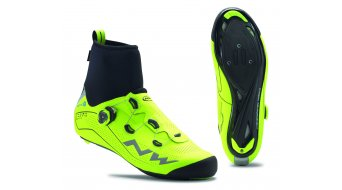 Northwave Flash Arctic GTX winter road bike- shoes yellow fluo