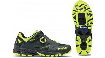 Northwave Spider Plus 2 All Mountain MTB-zapatillas verde gables/amarillo fluo