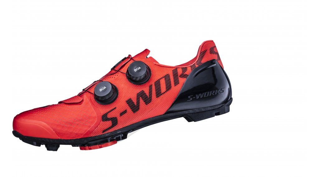 Specialized S Works Recon MTB shoes size 41.0 rocket red