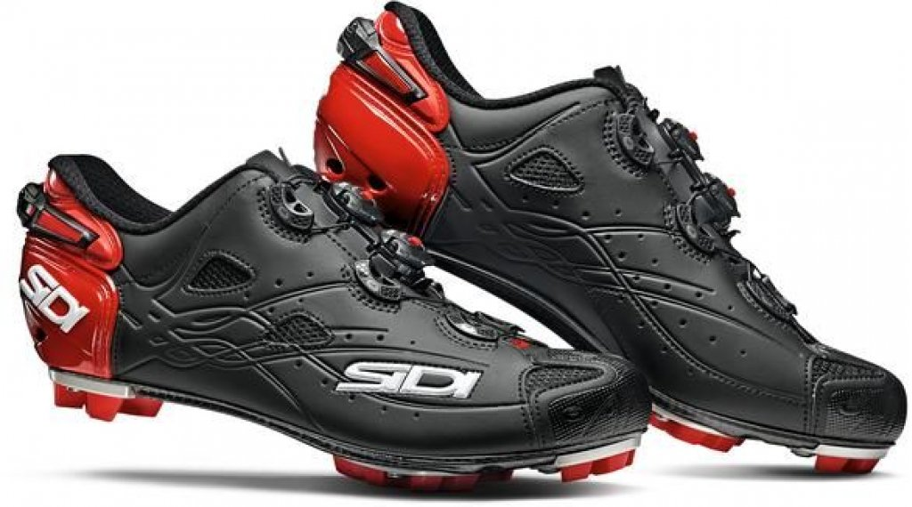 Sidi Tiger MTB-Schuhe Herren Gr. 40.0 matt black/red