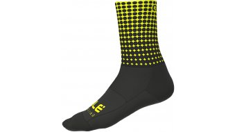 Alé Dots Socken 16cm Gr. S (36/39) black/fluo yellow