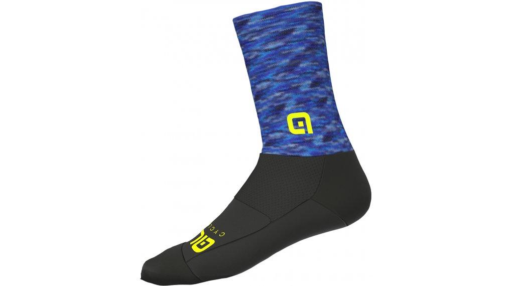 Alè Merino Logo Socken 18cm Gr. S blue/black