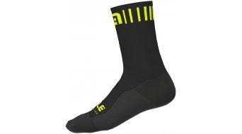 Alè Strada Socken 18cm Gr. M (40/43) black/fluo yellow