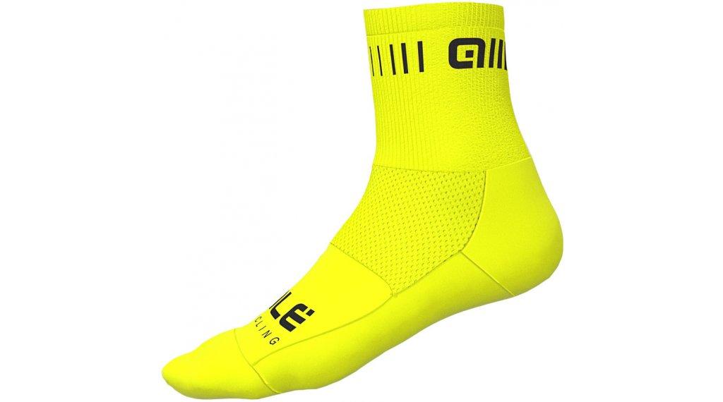 Alé Strada Socken 12cm Gr. S (36/39) fluo yellow/black
