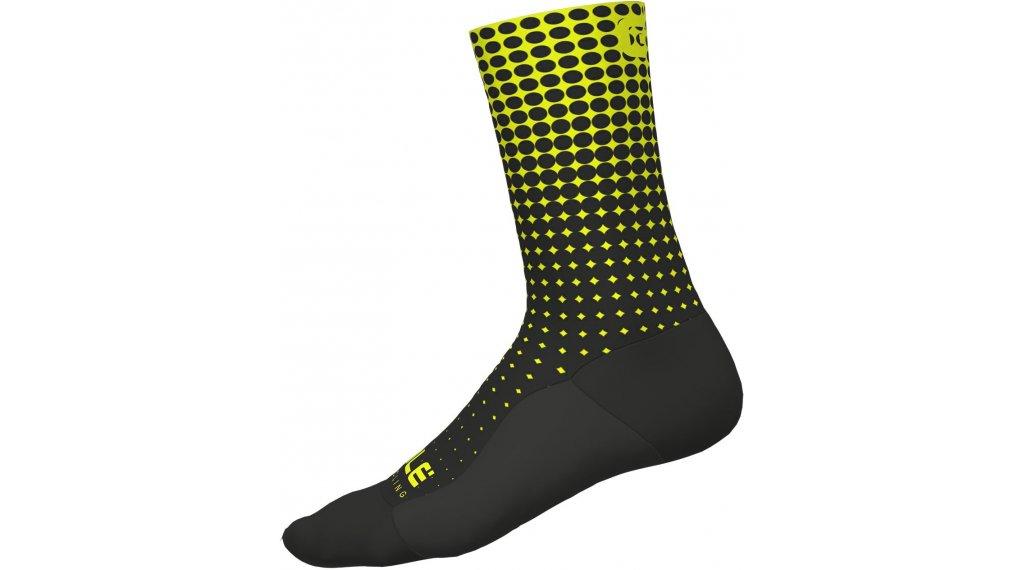 Alè Dots Socken 18cm Gr. M (40/43) black/yellow fluo