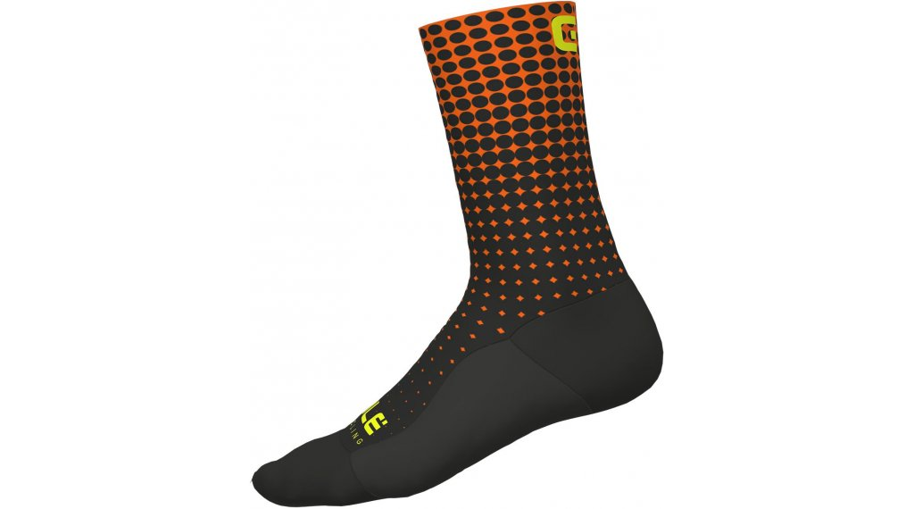 Alè Dots Socken 18cm Gr. M (40/43) black/fluo orange