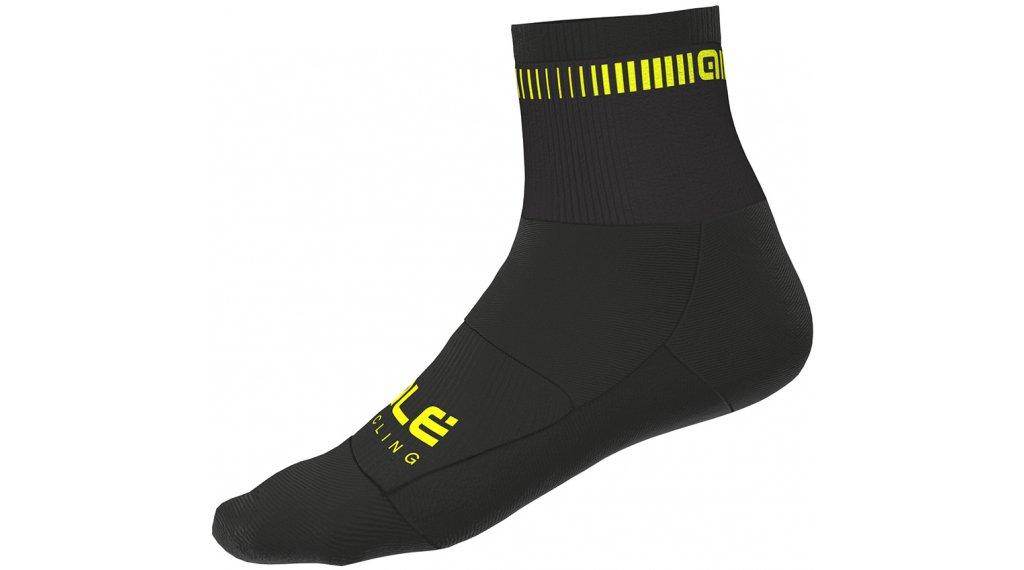 Alé Logo Socken 8cm Gr. S (36/39) black/fluo yellow
