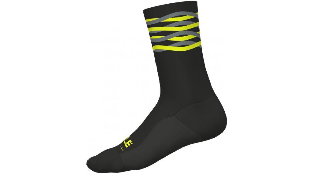 Alé Speedfondo Socken 18cm Gr. M (40/43) black/yellow fluo