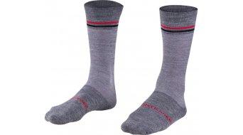 Bontrager Race Crew Thermal Wool Socken Gr. 37-39 (S) dark grey/red
