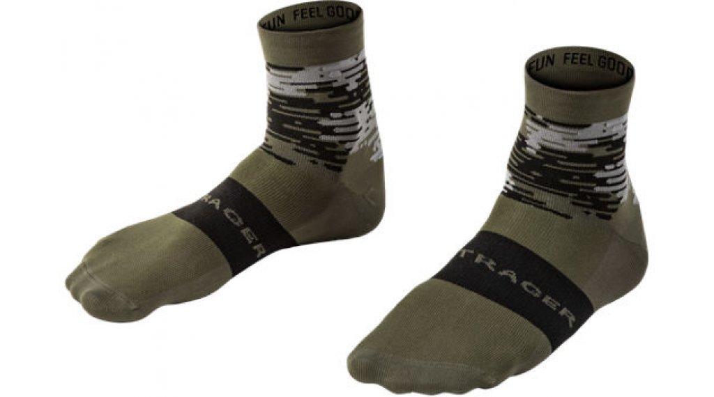 Bontrager Race Quarter socks men size 40-42 (M) olive grey