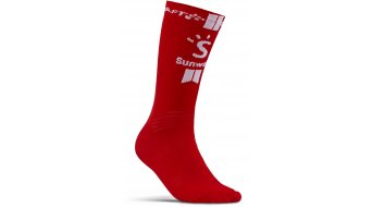 Craft Team Sunweb socks white/sunweb red