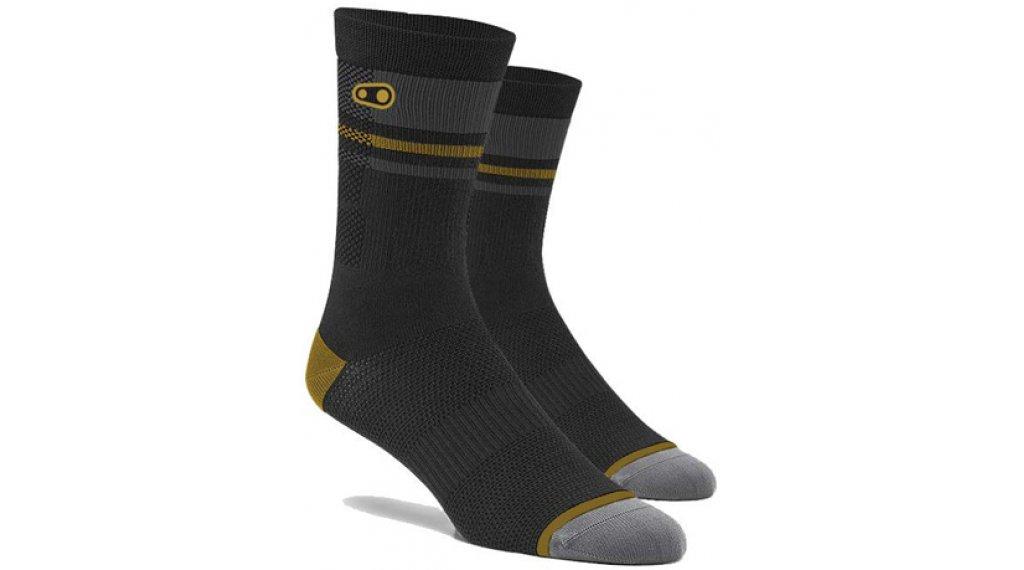 CrankBrothers X 100% Trail Socken Ltd. Edition Gr. S/M black/gold/grey