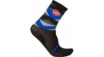 Castelli Fatto 12 Socken Gr. XXL black/surf blue