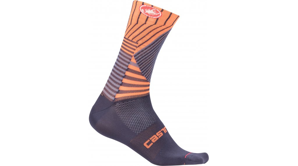 Castelli Pro Mesh 15 Socken Gr. S/M dark steel blue/orange