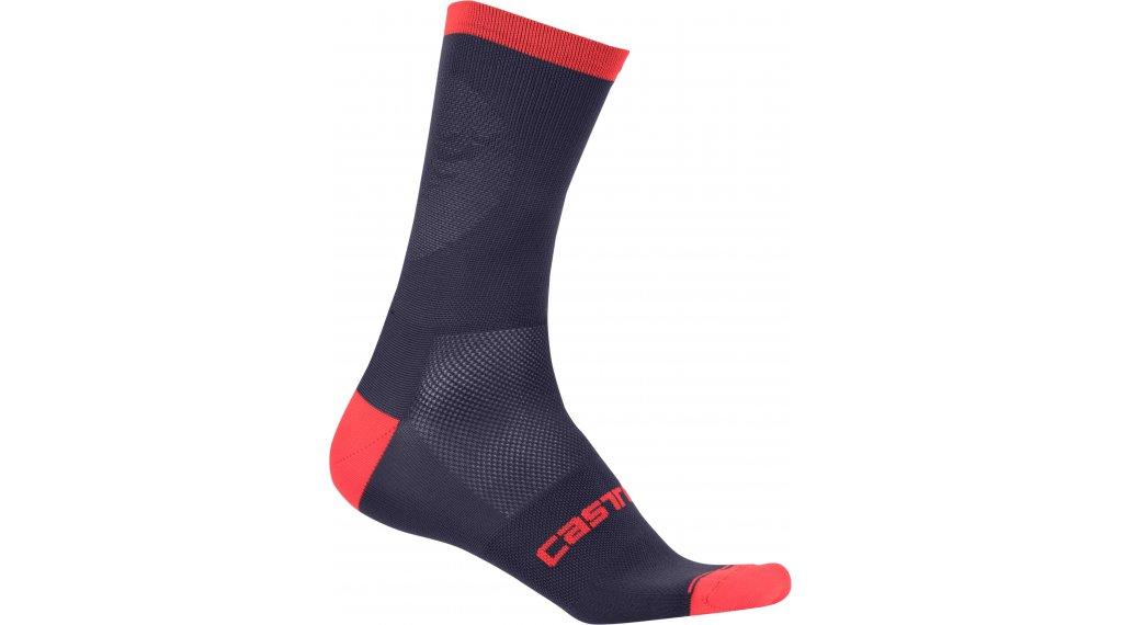 Castelli Ruota 13 Socken Gr. S/M dark steel blue/red