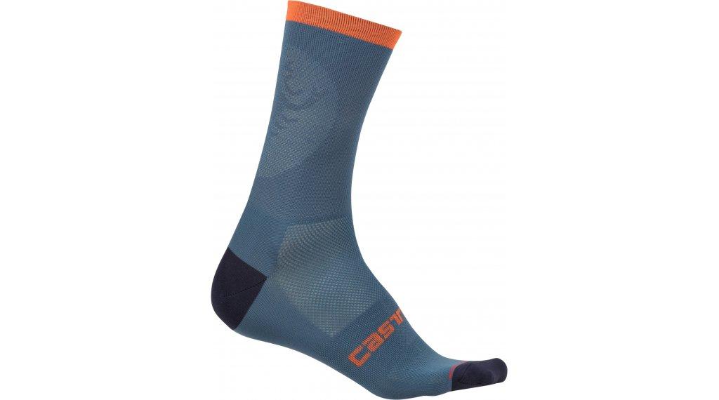 Castelli Ruota 13 Socken Gr. S/M light steel blue/orange