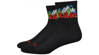 DeFeet Aireator Single-Bund Bike Love (8cm) Sportzokni Méret L (43-45,5) fekete