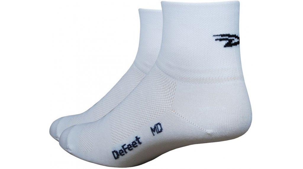 DeFeet Aireator D-Logo (8cm) Sportsocken Gr. S (36-39,5) weiß