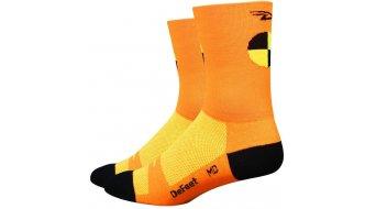 DeFeet Aireator 5 Socken Doppel-Bund Crash Test Gr. S (36-39,5) neon orange