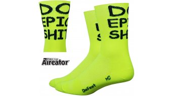 DeFeet Aireator Doppel-Bund Do Epic Shit (13cm) Sportsocken neon gelb