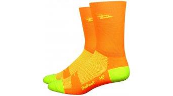 DeFeet Aireator 5 socks Doppel-collar D-logo neon orange