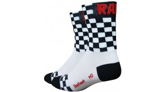 DeFeet Aireator 5 socks Doppel-collar checkmate white/black