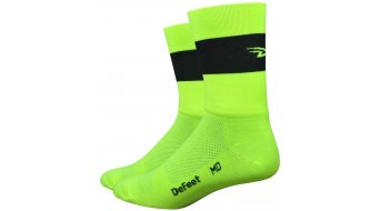 DeFeet Aireator Doppel-collar Team DeFeet (13cm) Sport socks neon