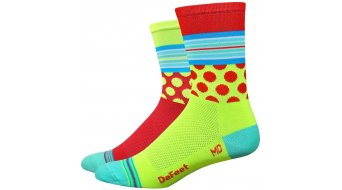 DeFeet Aireator 8cm socks Doppel-collar Mashup red/neon yellow