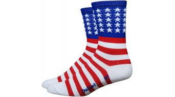 DeFeet Aireator 8cm socks single-collar USA red/white/blue