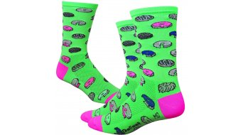 DeFeet Aireator 6 socks single-collar Dazed Donut neon green