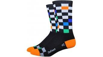 DeFeet Aireator 15cm socks single-collar Fast Times black/neon orange