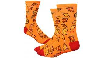 DeFeet Aireator 6 socks single-collar pizza Party neon orange