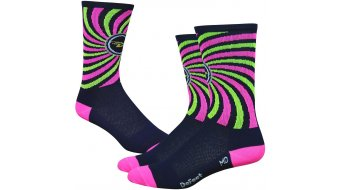 DeFeet Aireator 6 socks single-collar That 70s blue/neon pink