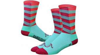 DeFeet Aireator socks hand lebar Mustache City tourquoise