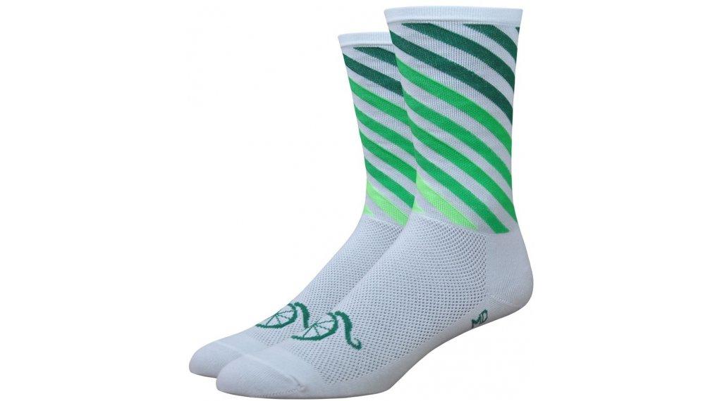 DeFeet Aireator calcetines Handlebar Mustache Decade Pro tamaño S (36-39,5) blanco(-a)/verde