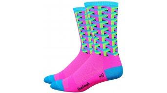DeFeet Hi Rouleur 6 socks single-collar Framework pink