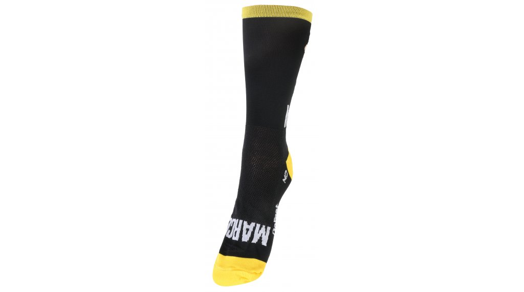 DeFeet Aireator Rich Mitch Marco Pantani Sportsocken 型号 S (36-39,5) 黑色/黄色