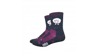 DeFeet Woolie Boolie Baaad Sheep Sport socks size L (43-45,5) black/pink
