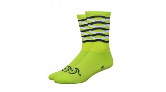 DeFeet Aireator hand lebar Mustache Frequency Sport socks yellow